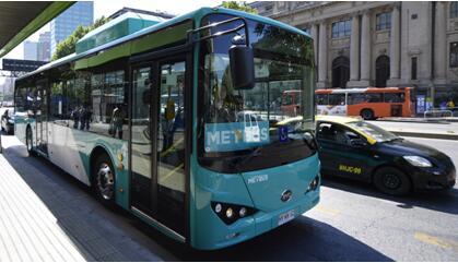 比亚迪在智利获100台K9FE型纯电动大巴订单