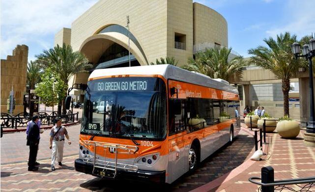 比亚迪电动客车已占据美国纯电动大巴80%以上市场份额