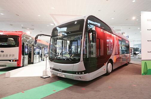 比亚迪12米纯电动大巴在汉诺威IAA全球首发