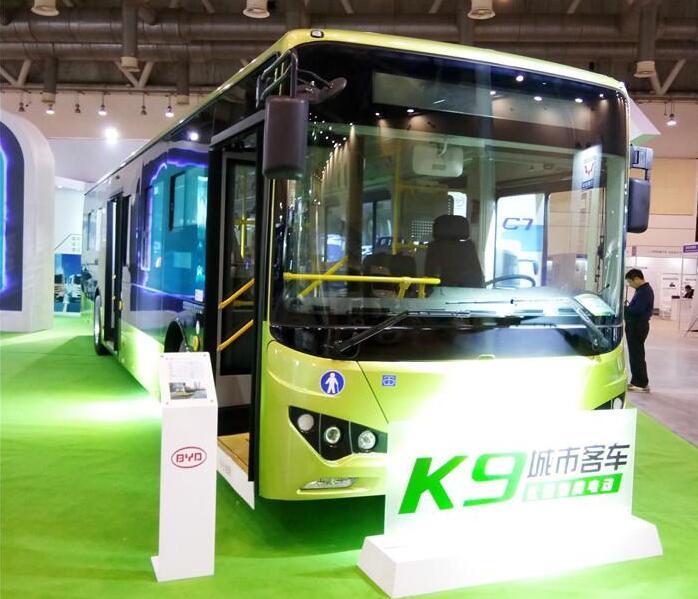 比亚迪纯电动客车C7/C6及纯电动公交车K9亮相旅游客车博览会