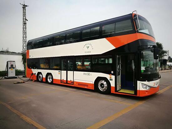 20辆安凯纯电动双层巴士投运广州 续航230公里