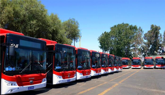 100辆宇通E12纯电动客车交付智利 续航300公里