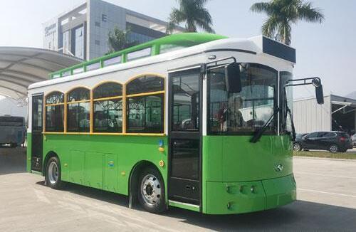 厦门金龙将推观光纯电动城市客车 红车长10.5米|绿车长8.64米