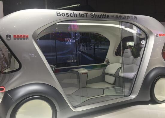 博世无人驾驶电动巴士概念车亮相2019上海车展