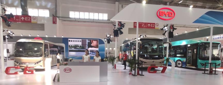 比亚迪携C6,C7电动客车,K9电动公交车及T5电动卡车重磅亮相2019北京道路运输展