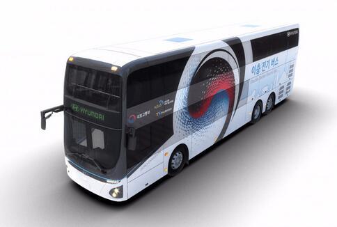 现代汽车推出纯电动双层巴士客车 载客70人|续航299公里