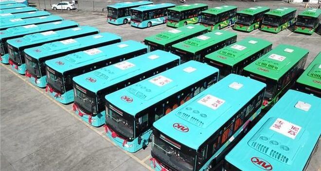 49辆安凯纯电动公交车交付苍南县交运集团 续航300KM