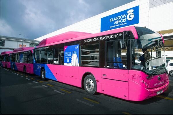 10.8米比亚迪电动客车BYD ADL Enviro200EV在英国机场投运