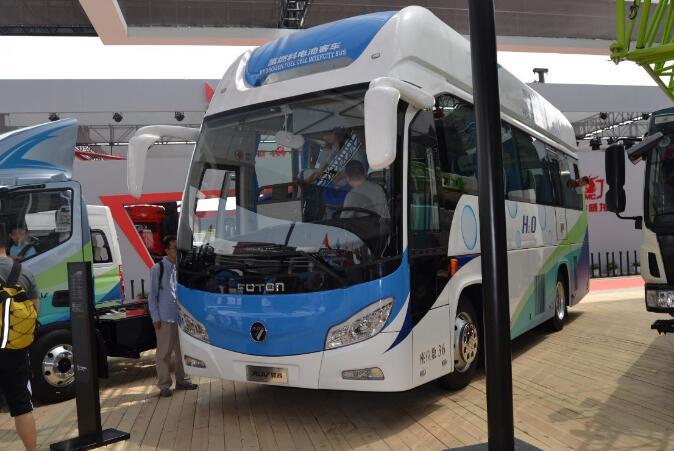 2018北京车展报道:图雅诺EV 福田奥铃EV 欧辉氢燃料电池客车