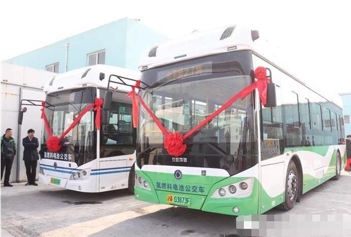 上海神力联合申龙客车研发两款氢燃料电池公交车交付奉贤区