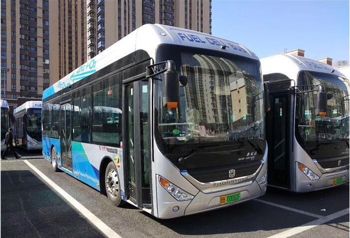中通氢燃料公交车已正式投运大同  系大同第一辆氢燃料公交车
