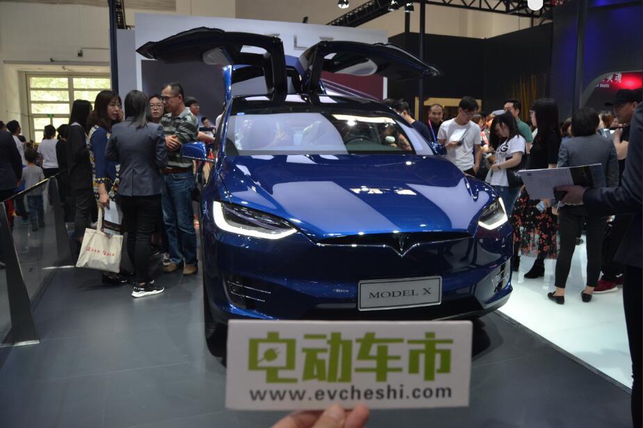 电动车市2018北京国际车展特别报道:特斯拉MODEL X亮相