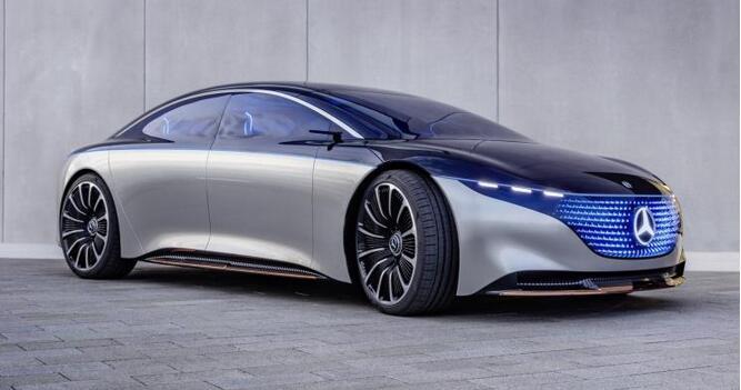 奔驰Vision EQS电动概念车亮相广州车展 WLTP续航700KM