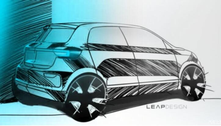 零跑汽车旗下T平台两款小型电动车手绘效果图发布 2019年上市