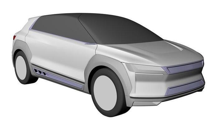 """比亚迪全新电动汽车专利图曝光 将命名为""""燕""""或""""夏"""""""
