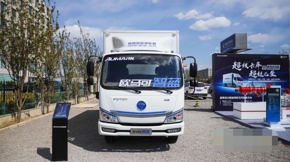 福田智蓝新能源旗下54台欧马可电动物流车交付京东物流
