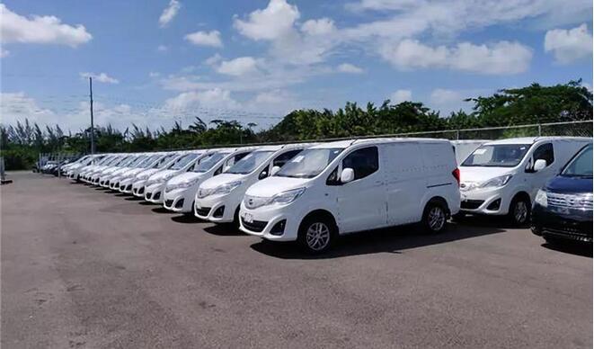 50辆比亚迪T3纯电动物流车交付巴哈马首都拿骚
