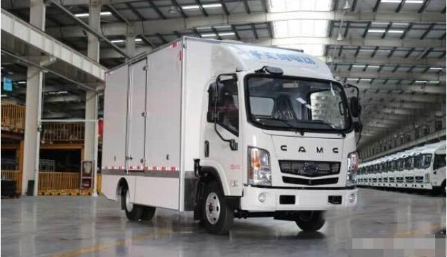 华菱星马4.5吨电动物流车暨纯电动厢式运输车  续航超300KM