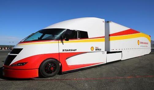 壳牌推出太阳能电池板空气动力卡车