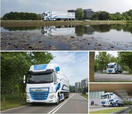 荷兰卡车公司DAF发布新款纯电动卡车 续航100KM