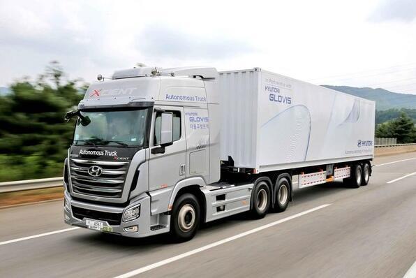 现代Xcient拖挂卡车完成自动驾驶之旅