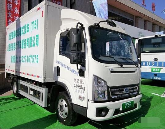 比亚迪电动物流车T5A亮相太原新能源车展