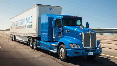 肯沃斯卡车与丰田北美公司研发氢燃料电池重卡 续航约480KM