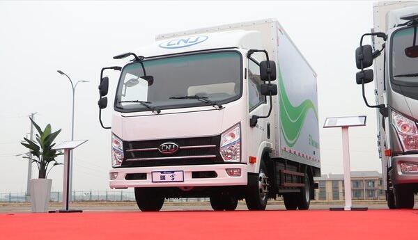 南骏汽车旗下瑞吉J30EG增程式电动卡车亮相 纯电续航250KM