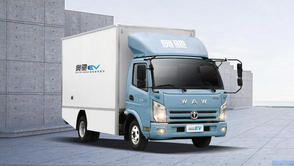 飞碟汽车旗下电动卡车-奥驰EV上市 货厢18方|续航358公里