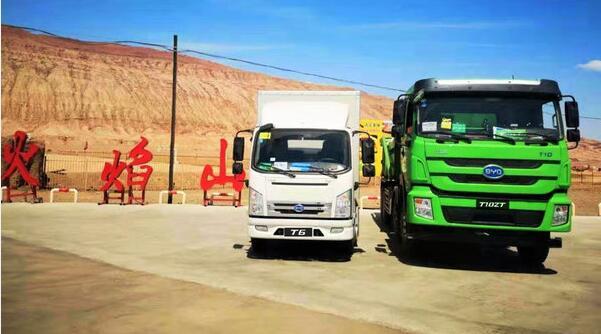 比亚迪电动卡车暨智能自卸车T10ZT完成高温测试 续航293公里