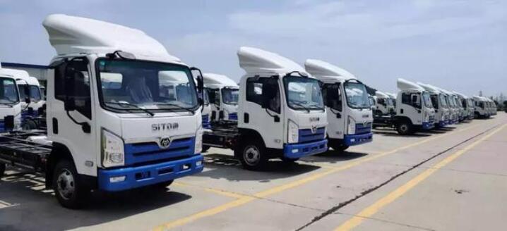 230辆三环新能源轻卡出口南美哥伦比亚 匹配法士特4E50新能源电驱动系统