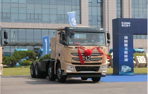 徐工电动重卡漢風纯电动智能渣土车再获深圳300台订单
