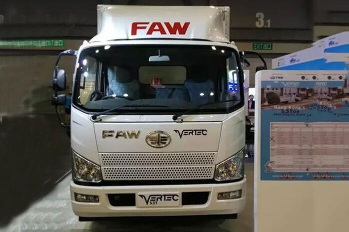 一汽解放J6F纯电动卡车亮相香港国际数码生活和汽车博览会