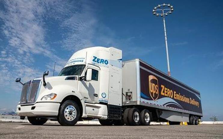 丰田氢燃料电池重型电动卡车在洛杉矶揭幕 续航480公里