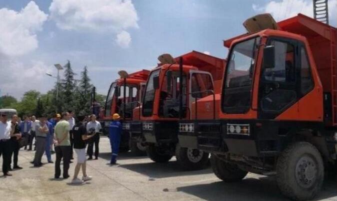 洛阳钼业启用全球首批电动矿用卡车