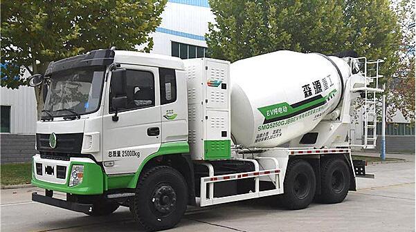 森源纯电动混凝土搅拌车最大允许总质量25吨 满载续航150km
