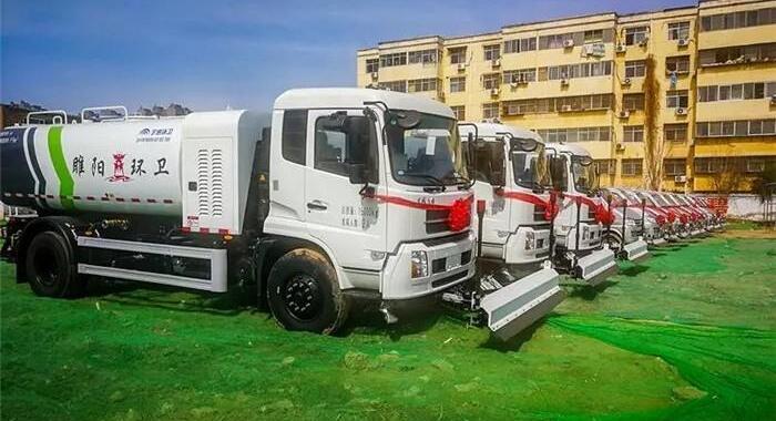宇通电动环卫车:10辆路面养护车和5辆高压清洗车交付商丘睢阳