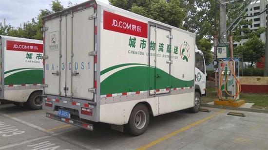 京东研发出电动货车 五年内京东物流全部换成电动货车