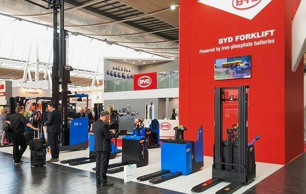 比亚迪电动叉车重磅亮相2018德国汉诺威国际物流展