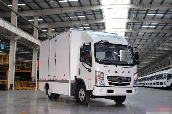 华菱星马首款纯电动厢式物流车下线 工况续驶里程大于200KM