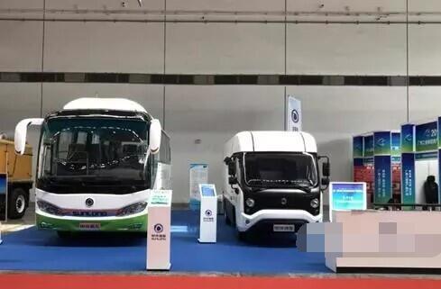 申龙HQK5042纯电动物流车亮相广西工业和信息产品展